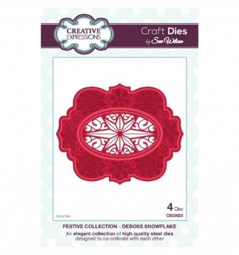 FESTIVE COLLECTION - Deboss Snowflake CED3023 by Sue Wilson